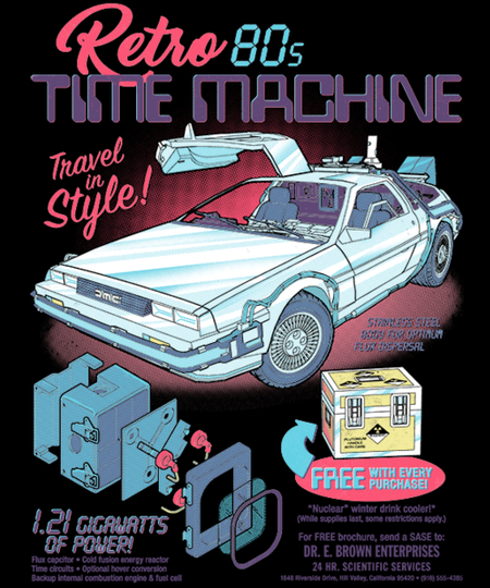 Qwertee: Retro Time Machine
