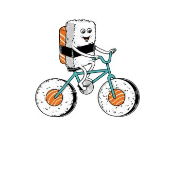 BustedTees: Sushi Bicycle