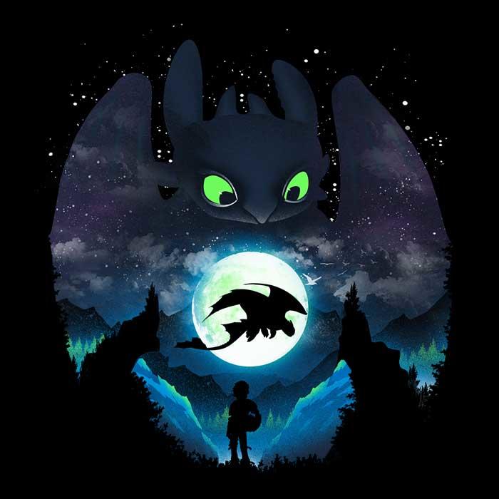 Once Upon a Tee: Dragon Sunset