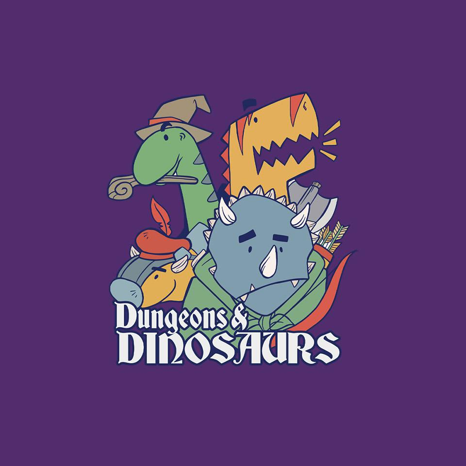 TeeFury: Dungeons and Dinosaurs