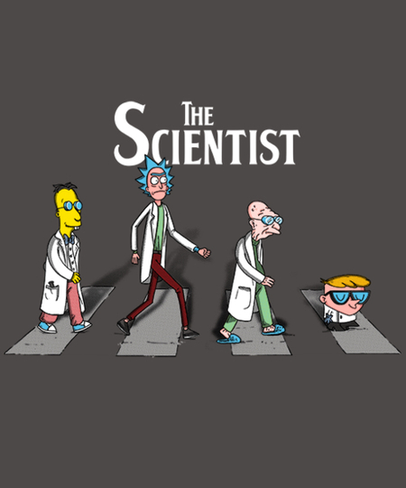 Qwertee: Scientist on Abbey Road