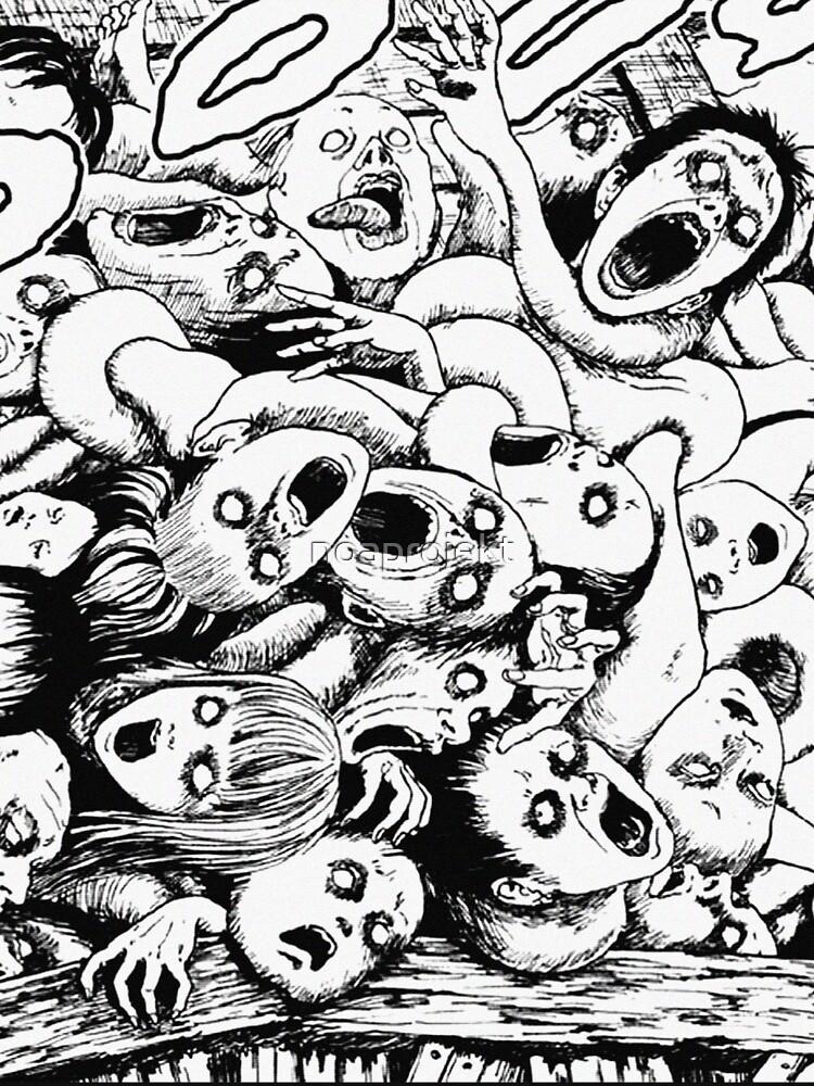 RedBubble: Junji Ito Creepy Head