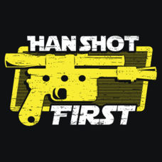 Textual Tees: Han Shot First