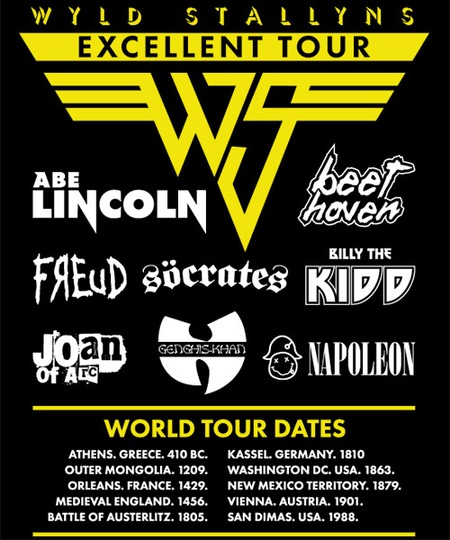 Qwertee: Wyld Stallyns - Be Excellent Tour