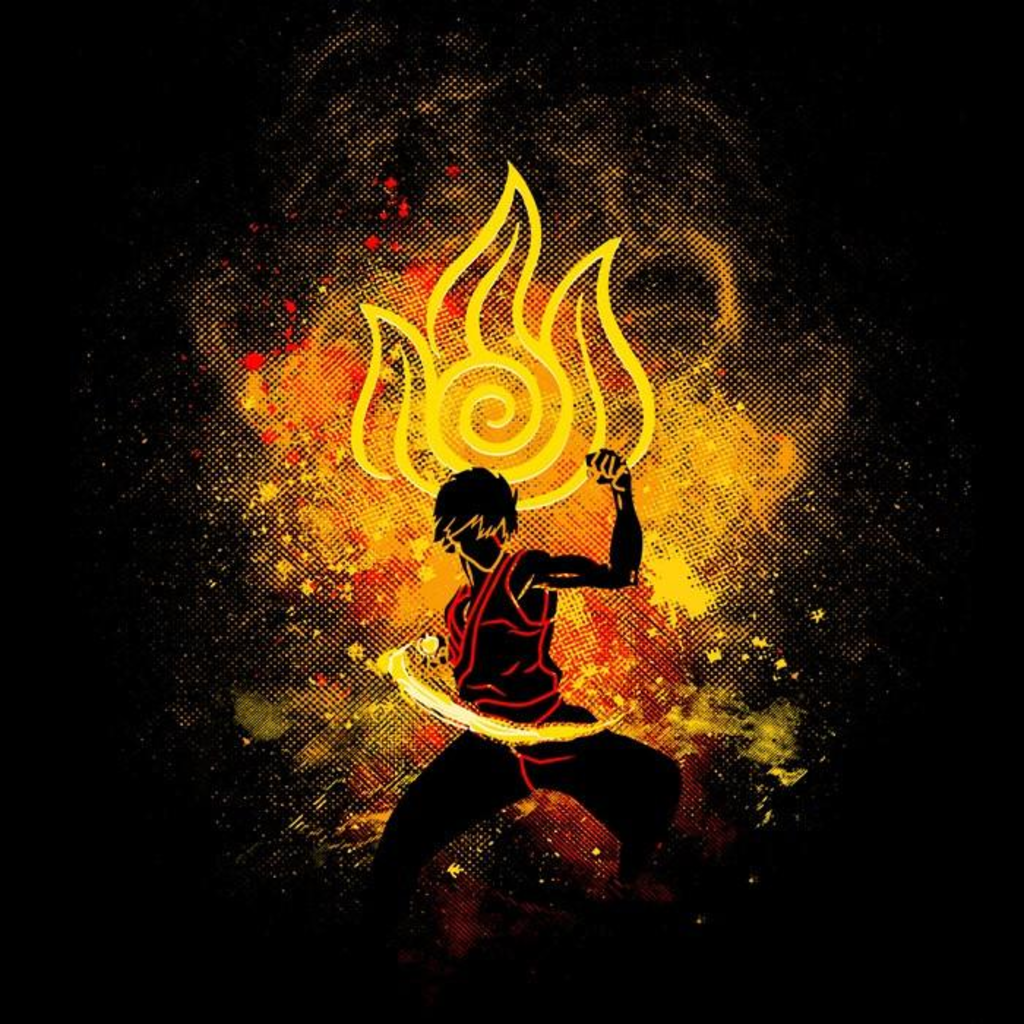 Once Upon a Tee: Fire Bender Art