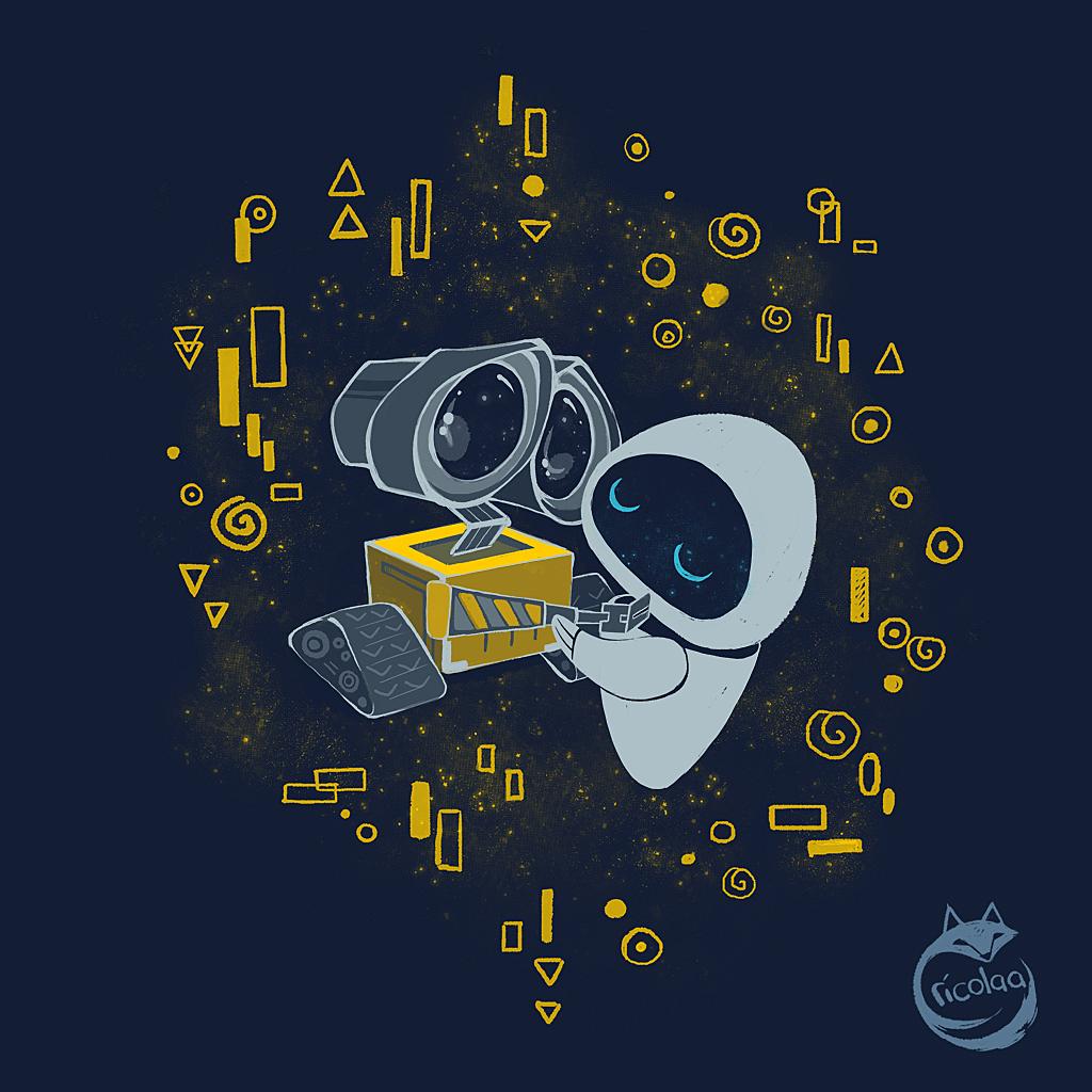 TeeTee: WALL•E KISS