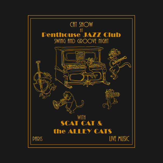 TeePublic: Cat-Deco Jazz Show