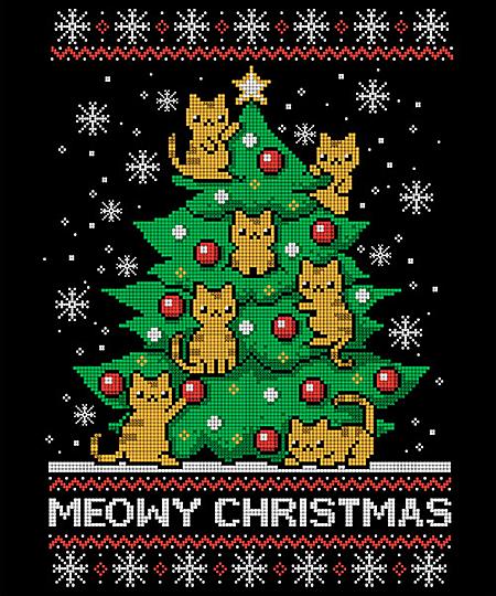 Qwertee: Meowy Christmas