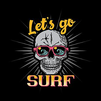 BustedTees: Vintage Surfing California adventures design
