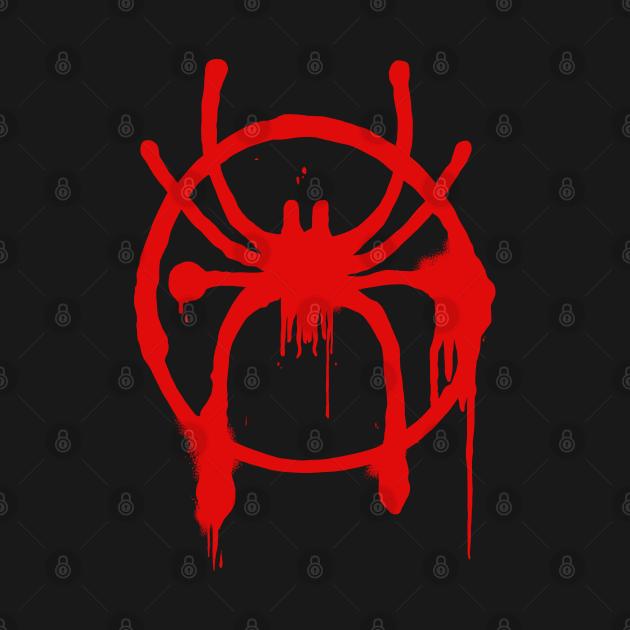 TeePublic: Spider-Man - Into The Spider-Verse - Spray paint logo