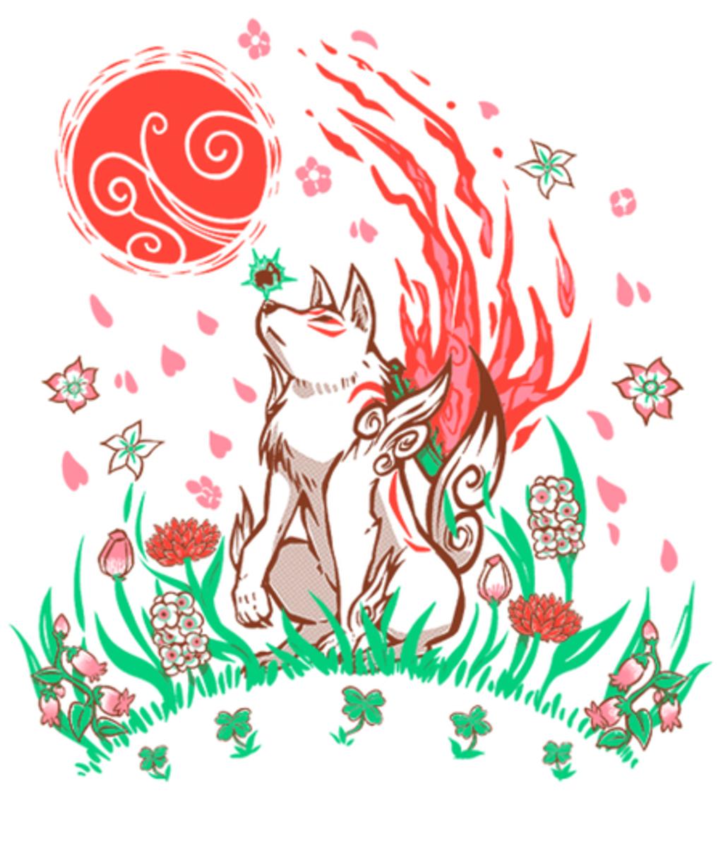 Qwertee: Wolf Blossom Breeze