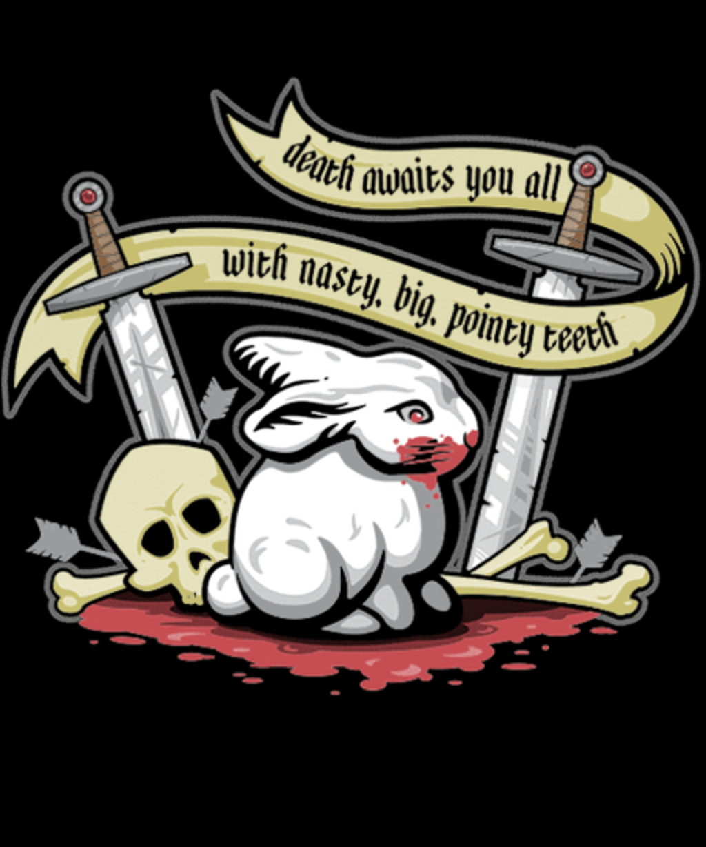 Qwertee: Rabbit of Caerbannog