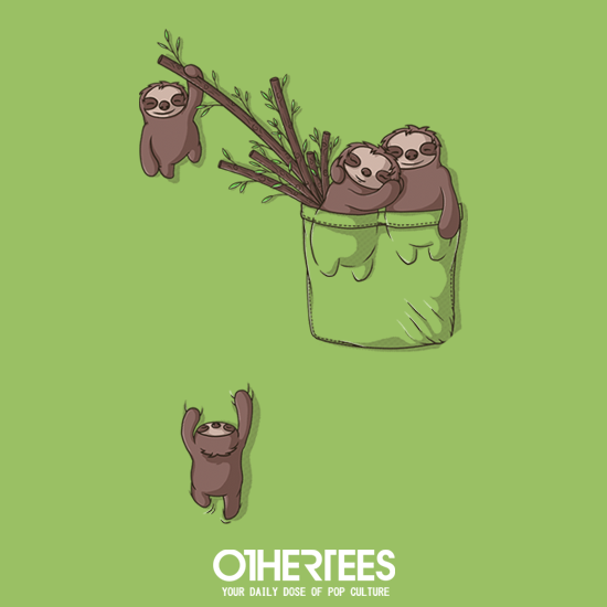 OtherTees: Pocket Sloth Family