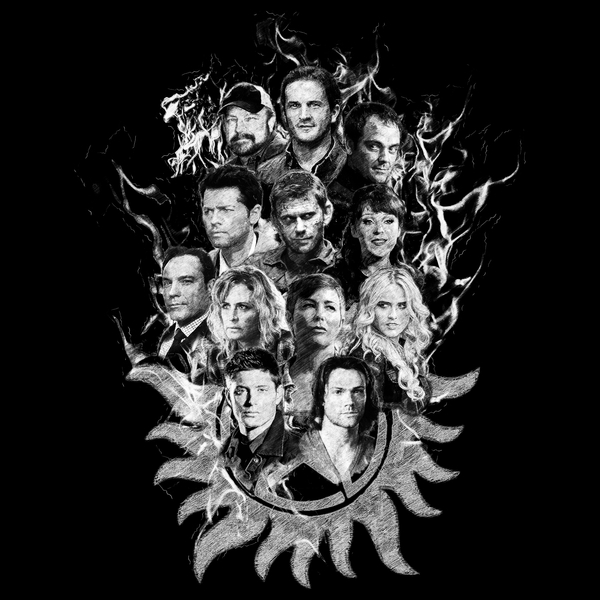 NeatoShop: Supernatural Sketch - White