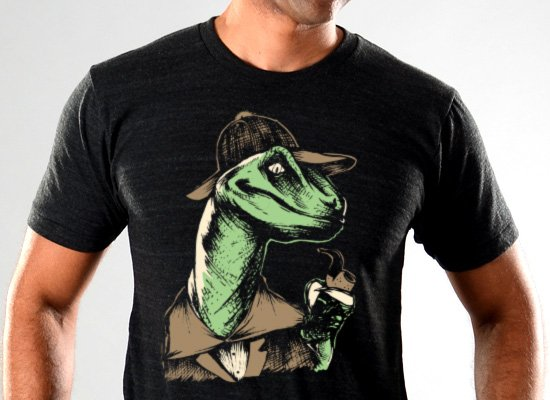 SnorgTees: Velociholmes Limited Edition Tri-Blend