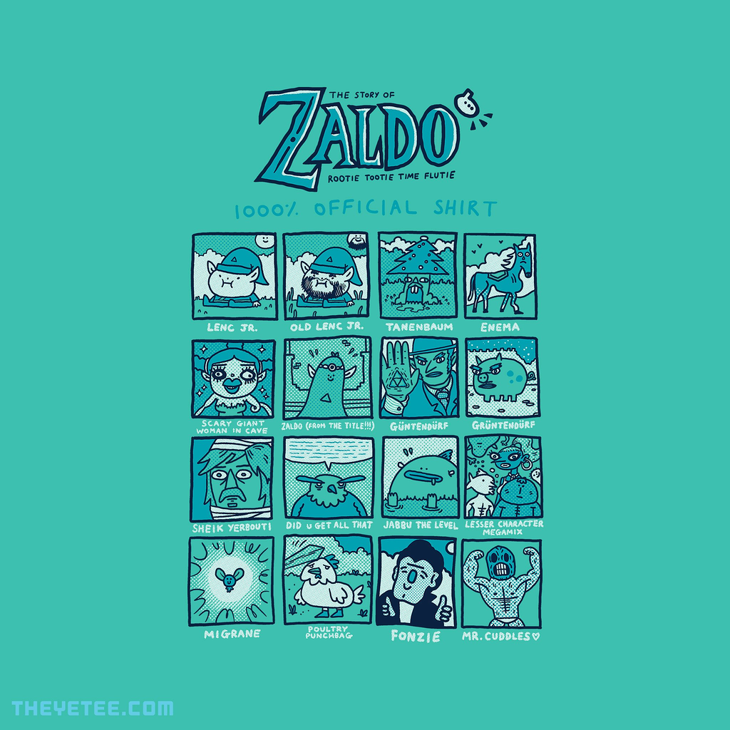 The Yetee: Zaldo: Rootie Tootie Time Flutie 1000% Official Shirt