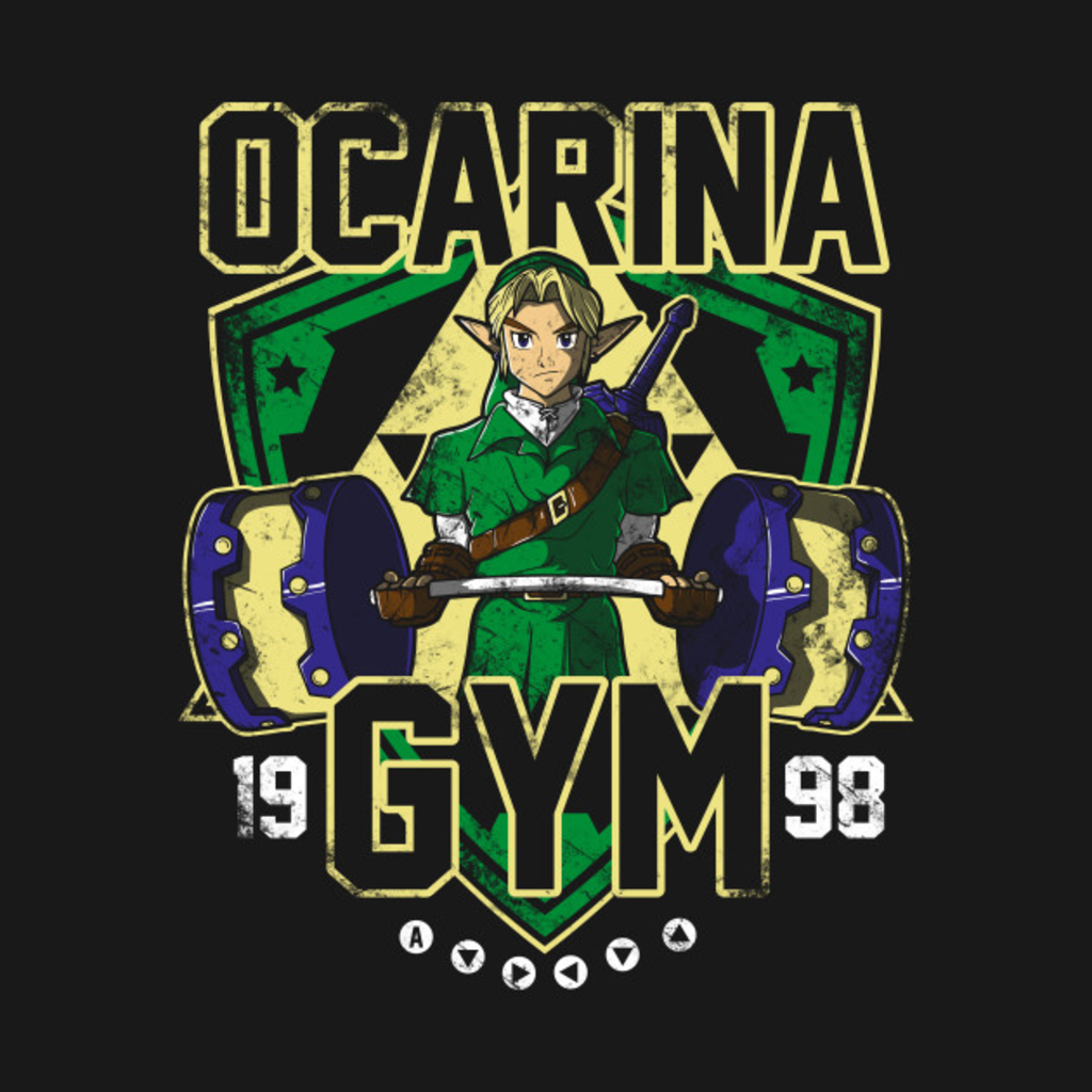 TeePublic: Ocarina Gym T-Shirt