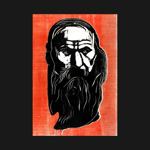 TeePublic: Head of an Old Man with Beard