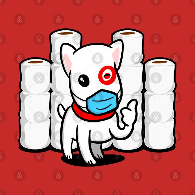 TeePublic: Essential Dog with Toilet Paper Good Aim Dog