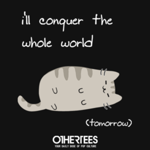 OtherTees: Lazy Cat