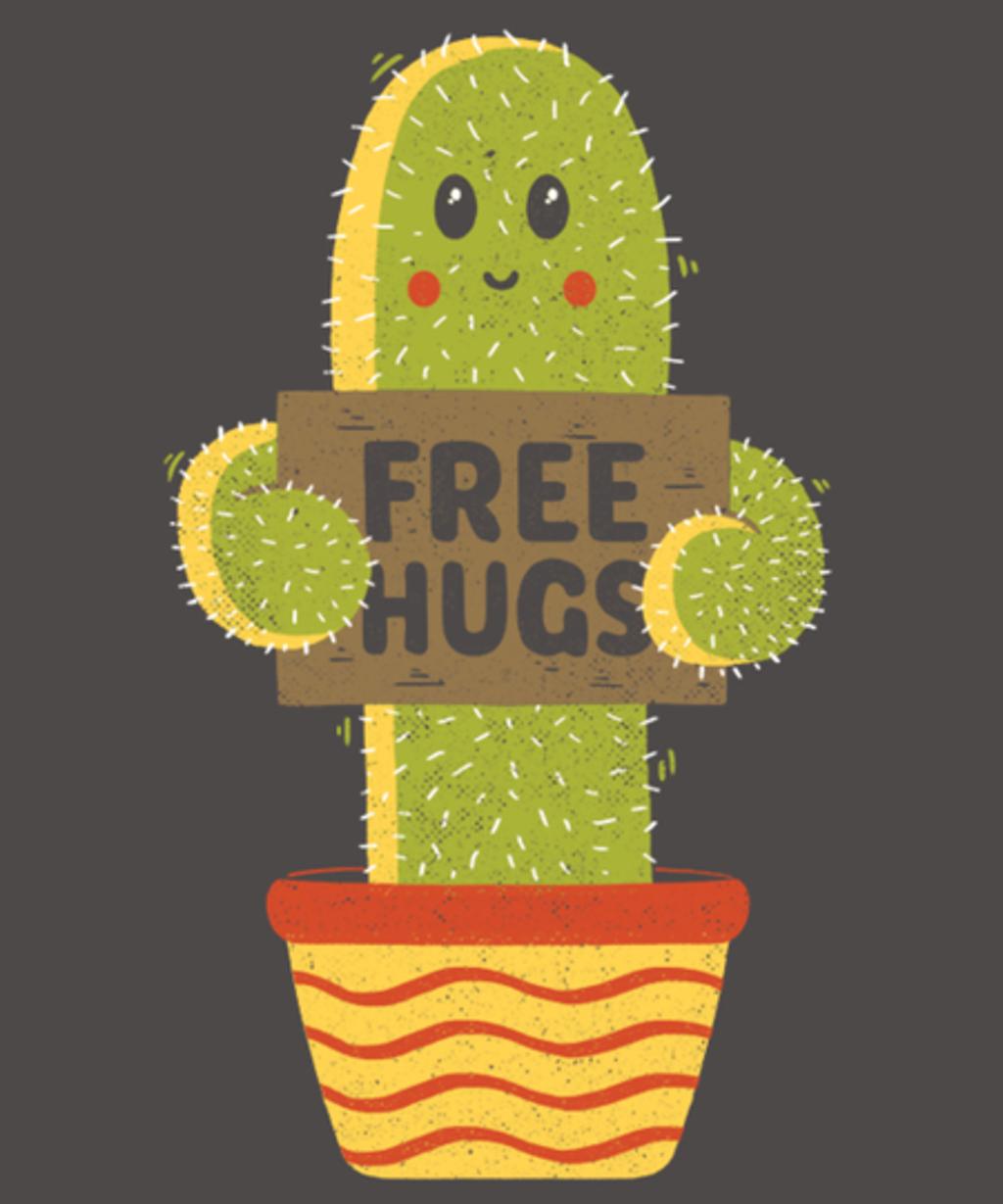 Qwertee: Free Hugs Cactus