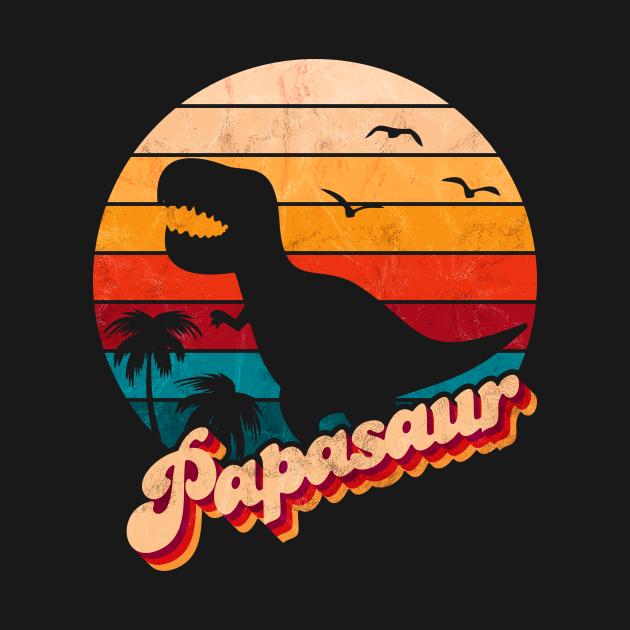 TeePublic: Vintage Fathers Day Papasaur