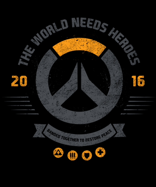 Qwertee: The World Needs Heroes