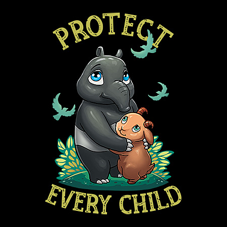 MeWicked: Protect Every Child - Prevent Child Abuse - Tapir and Goat