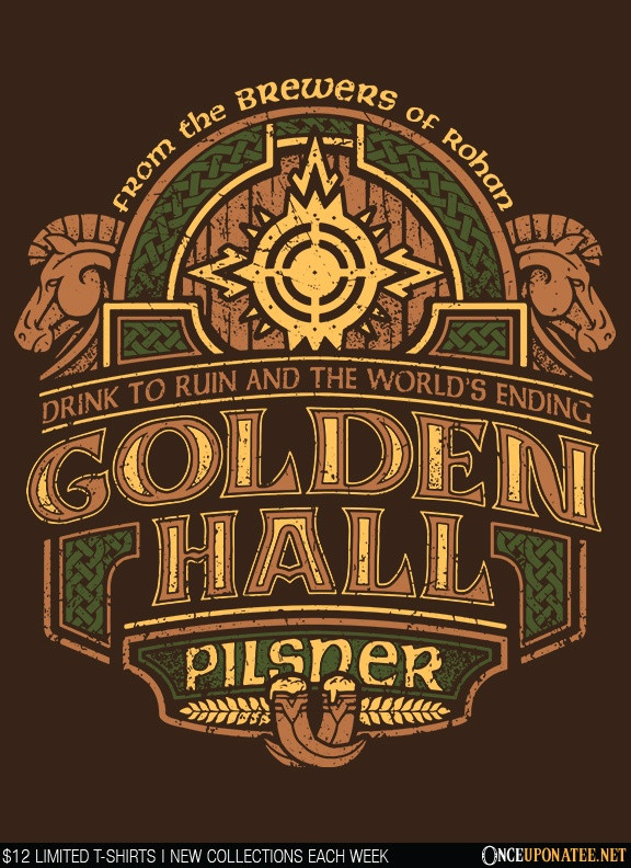 Once Upon a Tee: Golden Hall Pilsner