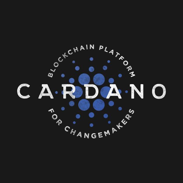 TeePublic: Cardano Vintage Logo Retro Cryptocurrency ADA Token
