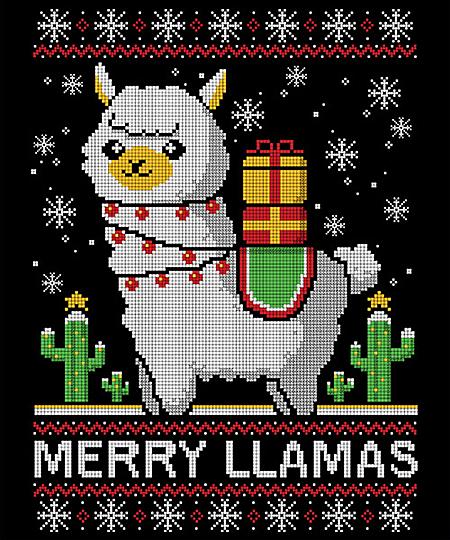 Qwertee: Merry Llamas