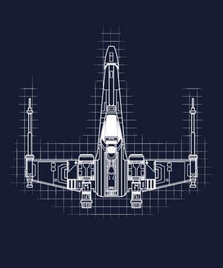 Qwertee: Xwing blueprint