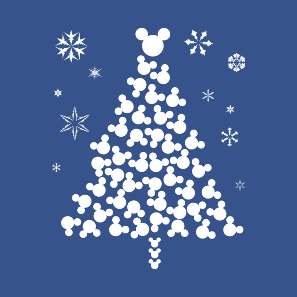 TeePublic: Xmas Mickey Head T-Shirt