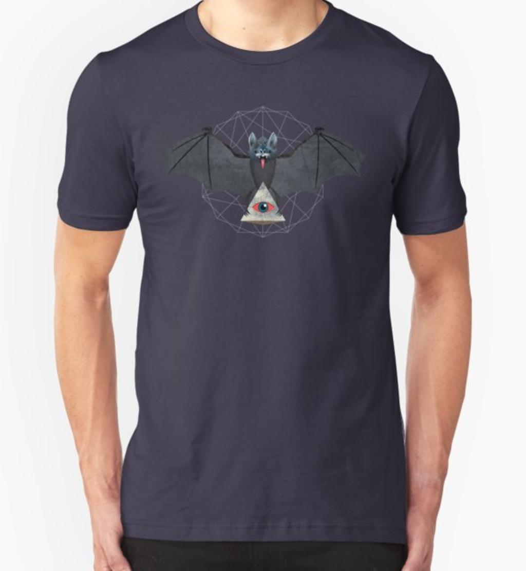 RedBubble: Vampire Bat with Pyarmid