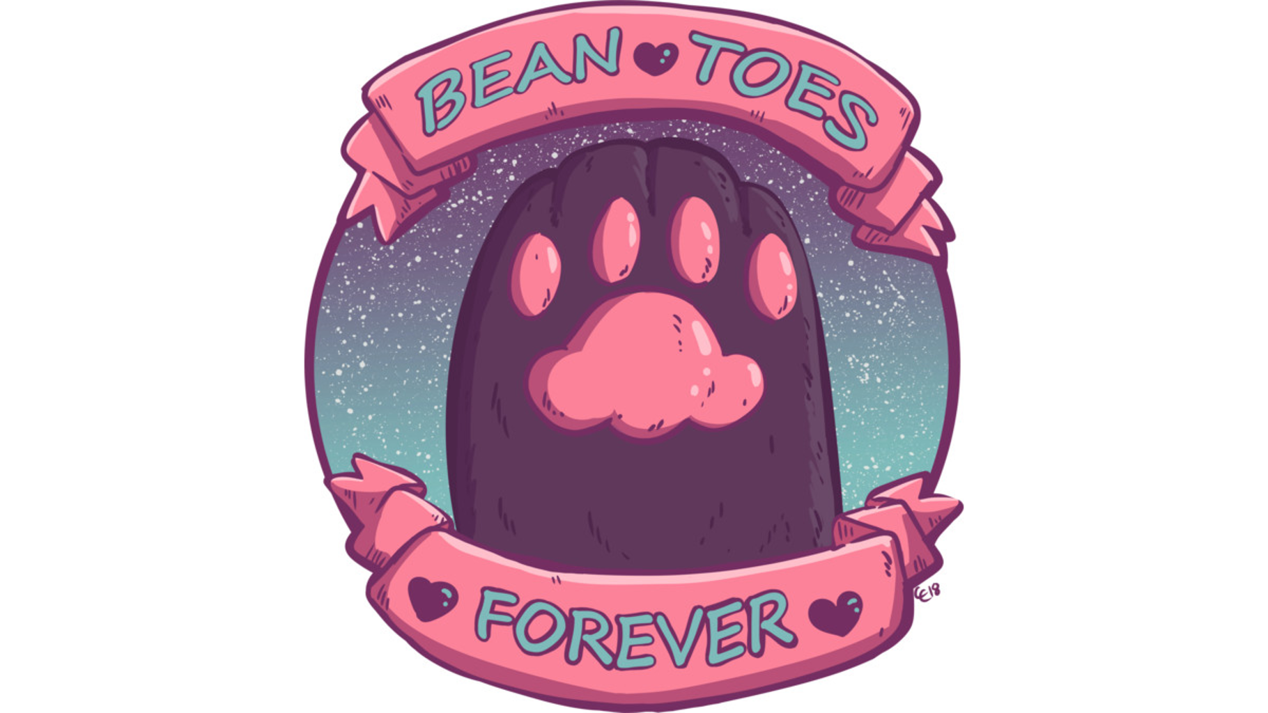 Design by Humans: Bean Toes Forever