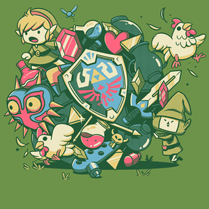 Qwertee: Let's Roll Link
