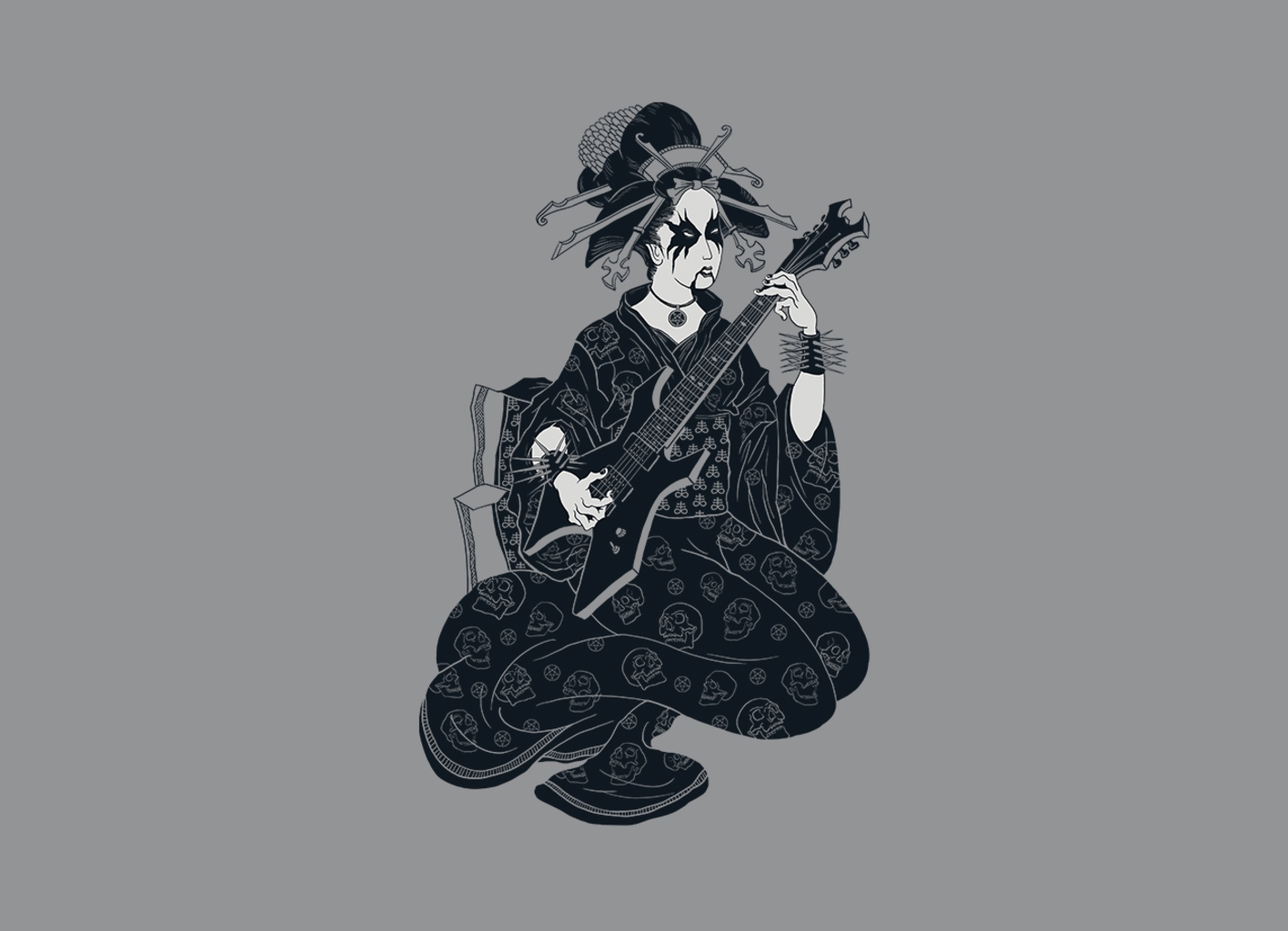 Threadless: Black Metal Geisha