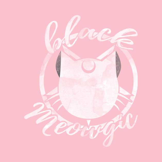 TeePublic: Black Meowgic (wt version)