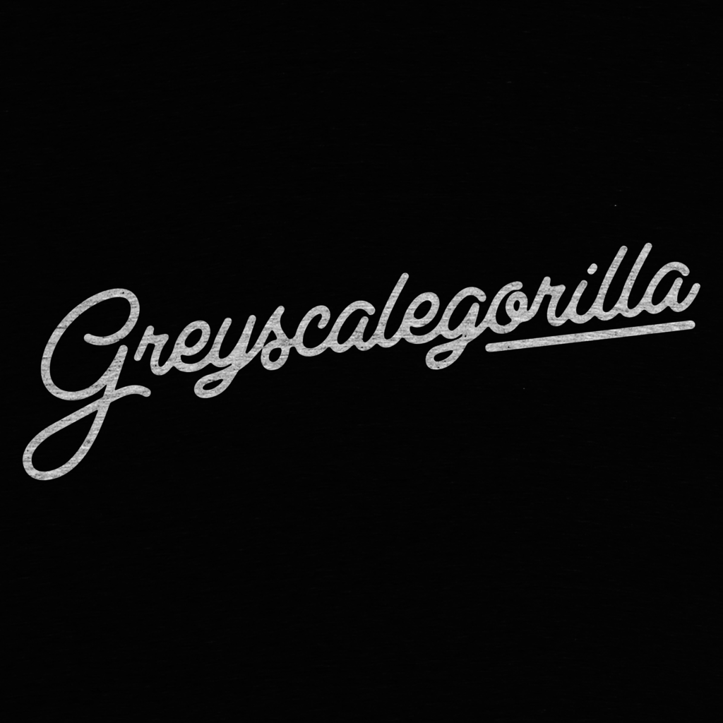 Cotton Bureau: Greyscalegorilla Script Limited Edition