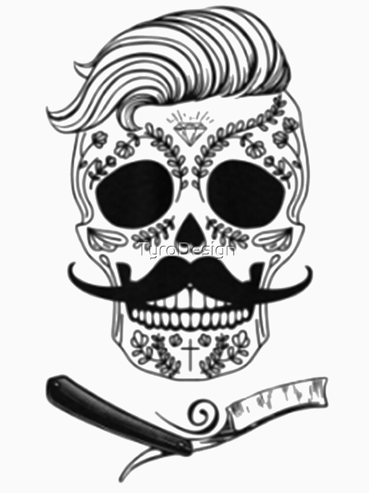 RedBubble: Barber Sugar Skull