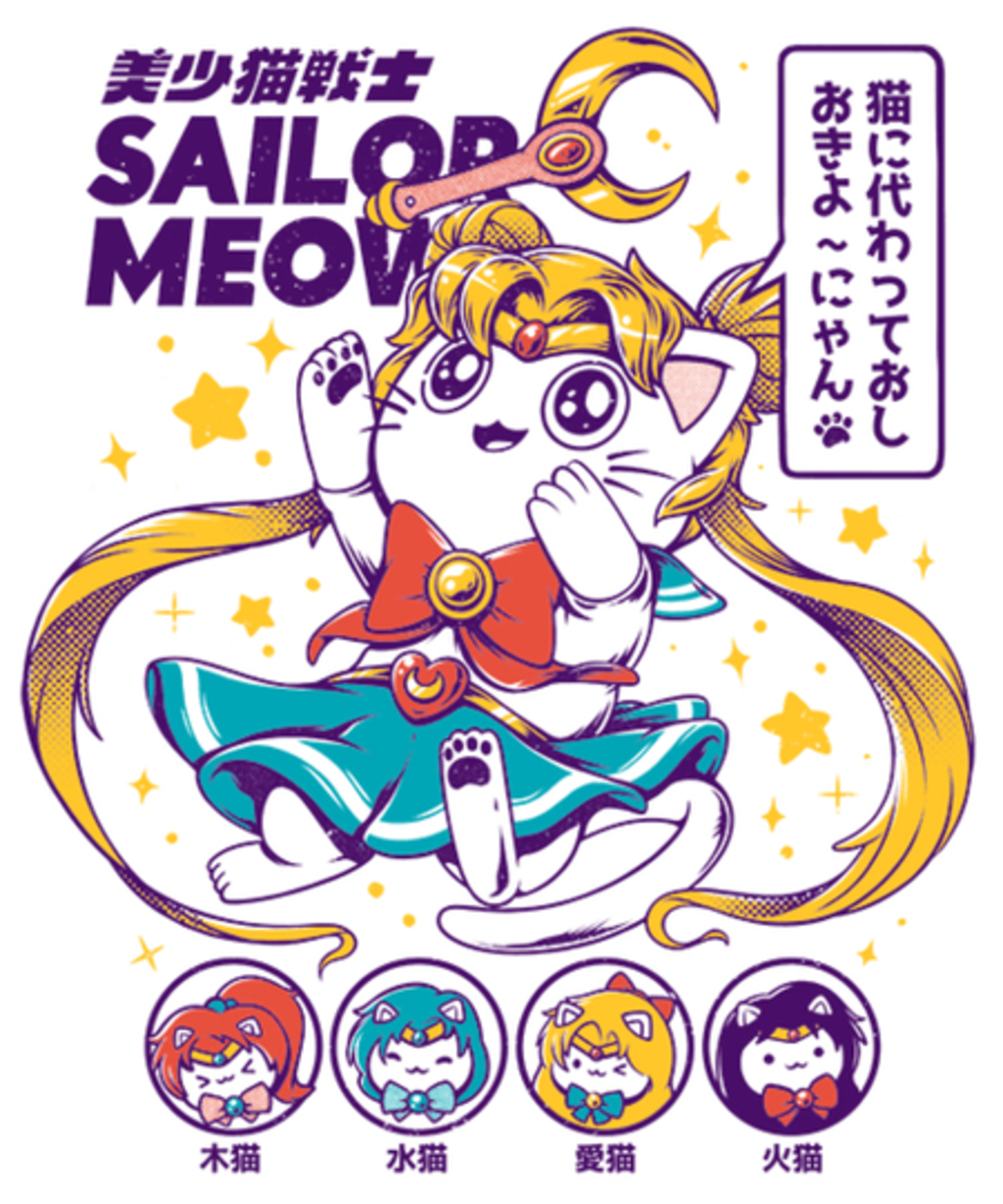 Qwertee: Sailor Meow