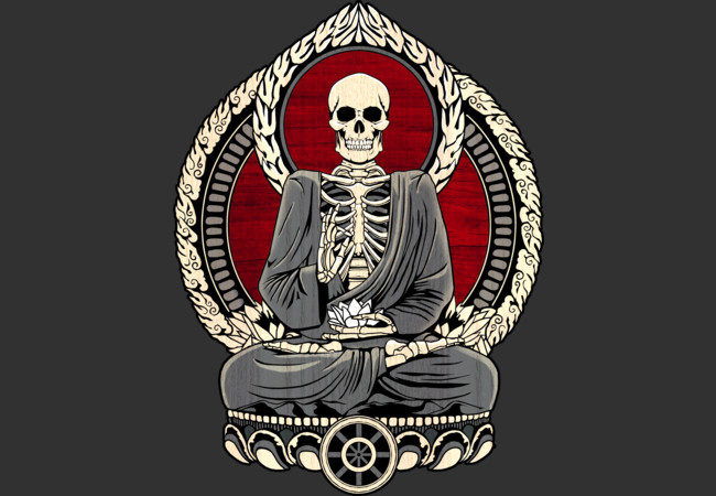 Design by Humans: Starving Buddha - Cherry