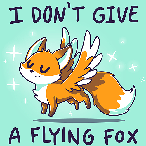 TeeTurtle: I Don't Give a Flying Fox