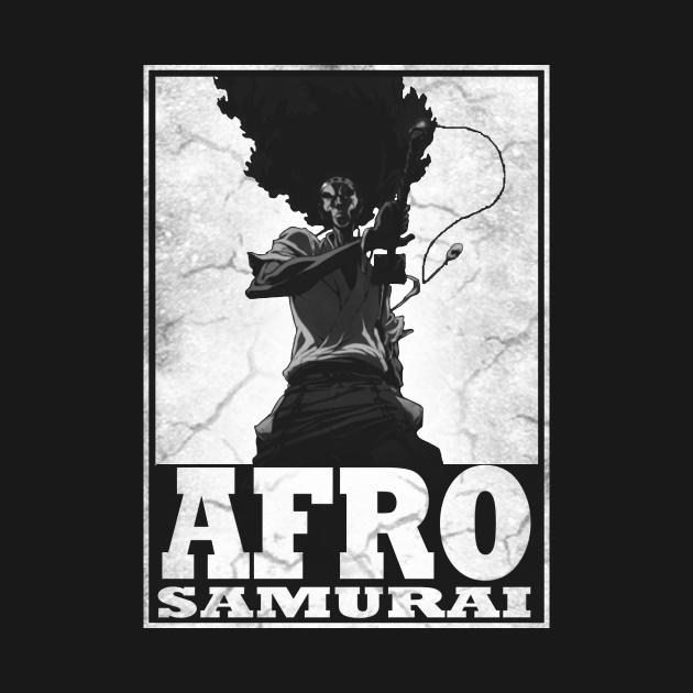 TeePublic: AFRO HAIR SAMURAI
