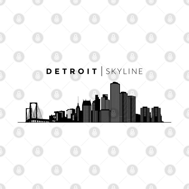 TeePublic: Detroit City Skyline Travel