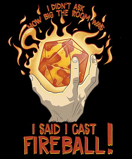 Qwertee: I Cast Fireball!