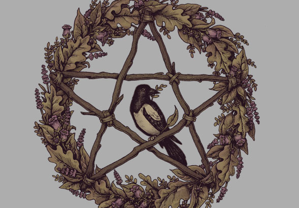 teeVillain: Pentacle Wreath