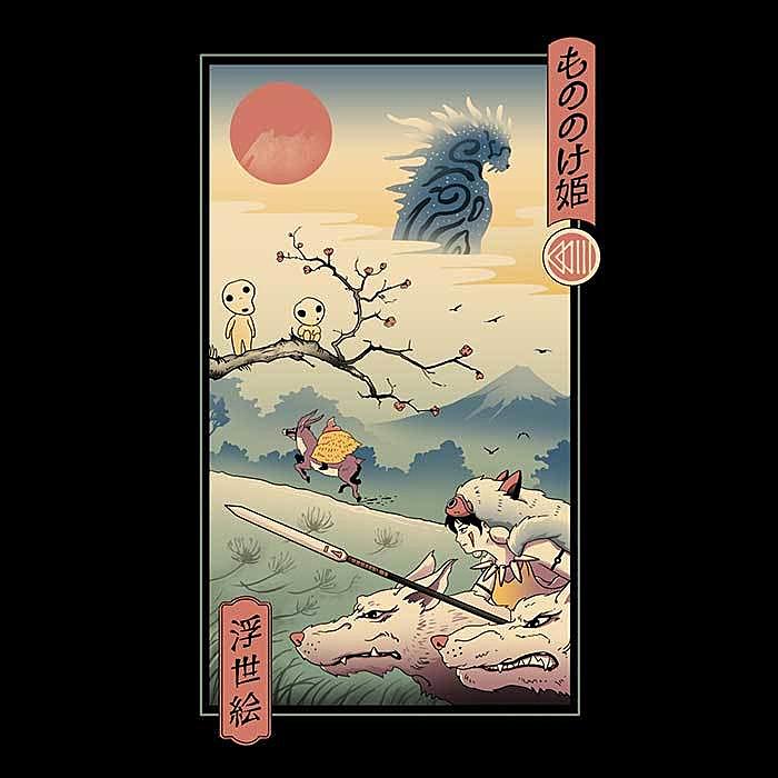 Once Upon a Tee: Wolf Princess Ukiyo-e