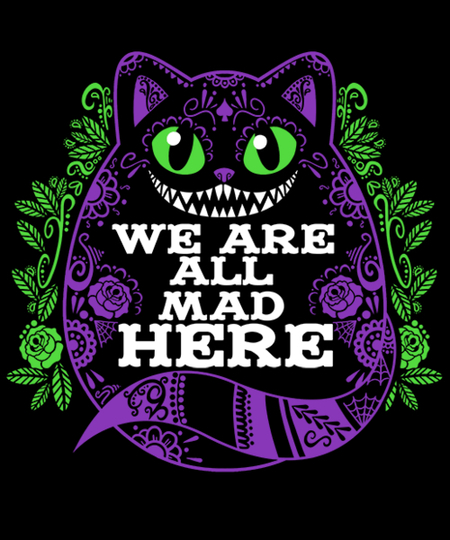 Qwertee: Calavera cheshire cat