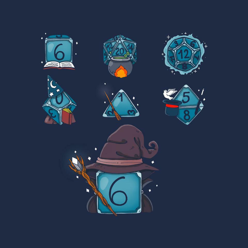 TeeFury: Wizard Set Dice